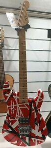 EVH STRIPED SERIES - RED WITH BLACK STRIPES Single Pickup - Floyd Rose