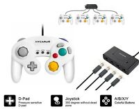 GameCube Controller Adapter Bundle for Nintendo Switch Wii Consoles 4 Port White