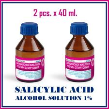 2pcs x 40ml. SALICYLIC ACID ALCOHOL SOLUTION 1%