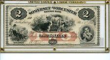 1862   Salisbury Md. Somerset & Worcester Bank Note
