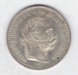1873 KB HUNGARY SILVER 10 KRAJCZAR IN MINT CONDITION.