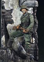 █ 54mm Resin WWII German SS Soldier W/Scene Unpainted Unassembled 4009