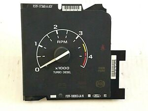 92-96 Ford Truck Turbo Diesel Tachometer RPM Gauge F250 F350 Pickup Tach Power