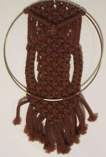 MACRAME OWL WALL HANGER 16 inch CHOOSE COLOR 6mm