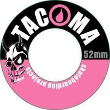 NEW - Lot of 4 52 mm Tacoma Skate Wheels pink/black