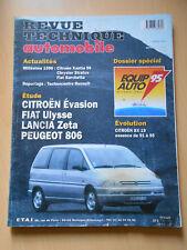 RTA revue technique n° 576 CITROËN évasion FIAT ulysse LANCIA zeta  PEUGEOT 806