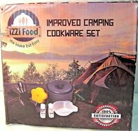 iZZI Food Camping Cookware Set w/ Bag, Utensils & Extras, New, Free Shipping!