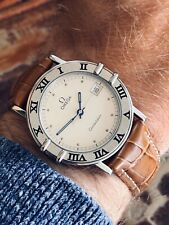 Omega Constellation Mens unisex 33mm vintage Battery Quartz Steel Leather watch