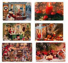 8x Platzset Platzdeckchen Tischset Weihnachten versch. Motive abwaschbar 30x45cm