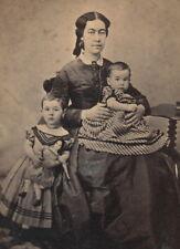 Schmidthammer CDV - Mutter 2 Kinder feine Puppe Spielzeug - Hamburg 1860er