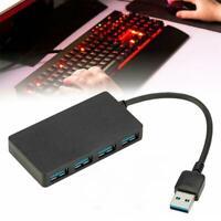 Ultradünner USB 3.0 4-Port Hub 5 Gbit / s tragbarer Desktop Notebook Laptop W6W9