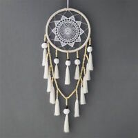 Macrame Wall Hanging Dream Catcher Large Natural Hairball (Beads with tasse W4X2
