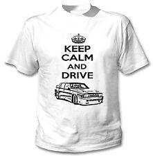 ALFA ROMEO 75 ispirato Keep Calm and Drive P-T-SHIRT COTONE BIANCO NUOVO