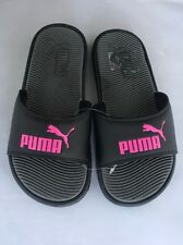 New Size 6 Puma Slide Sandals Black Pink Beach Shoes Surf Water Flip Flops
