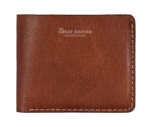 Mens Minimalist Leather Wallet With Coin Pocket Bifold Card Holder Money Purse