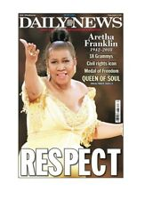 NEW YORK DAILY NEWS NEWSPAPER ARETHA FRANKLIN RESPECT QUEEN OF SOUL 8/16/10