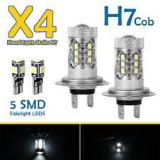 2 X H7 Super Blanc Xénon Halogène Led Phare 499 Ampoules Caché Cob 501 Lumièr SH