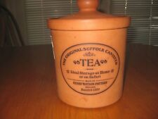 """The Original Suffolk Canister TEA, by Henry Watson ENGLAND Clay Pottery 4.25"""""""