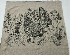 """Voyage Cushion Panel """"Capercaillie"""" Embroidered Wool - Single Panel - 22""""x18"""""""