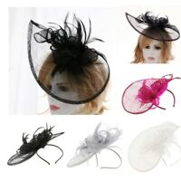 Sinamay Fascinator Cappello Cocktail Headwear Per Copricapo Da Sposa Con