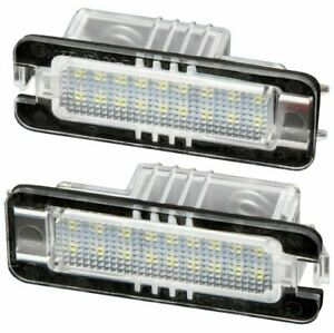 LED Warm White Number Plate Light Set For Porsche Macan Panamera