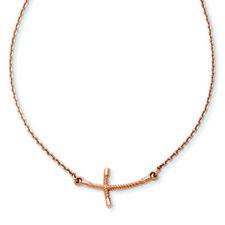 Collares y colgantes de joyería de metales preciosos sin piedras rosas de oro rosa