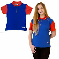 NEW GUIDE POLO SHIRT RED BLUE UNIFORM OFFICIAL GIRLS CLUB KIDS FREE DELIVERY