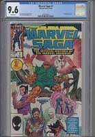 Marvel Saga #1  CGC 9.6  1985 Marvel  Wraparound Cover Comic: New CGC Frame!