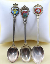 Vintage Germany  Continental 0.800 Tree Silver Spoons Germany Cities Coat of Arm