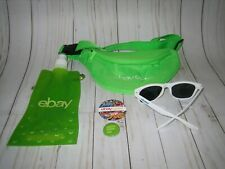 2019 ebay open swag lot neon green fanny pack sunglasses button bottle las vegas