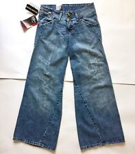 Vtg Levi's Engineered Loose Fit Distressed Torn Blue Denim Jeans Women's 25x30