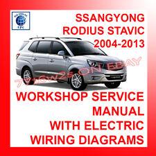 2004-2013 SSANGYONG RODIUS Stavic Workshop Manuale Di Servizio di Riparazione diagrammi di cablaggio