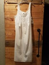 Eileen West white woven lawn  Cotton long Nightgown Plus Size 2x