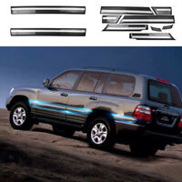 For Toyota Land Cruiser LC100 4700 98-07 10X Car Door Anti-collision Trim Gray