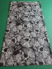 Sugar skulls Dreadlock Headband/dread sock/wrap  Lightweight, soft, comfortable