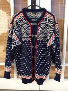 Dale Of Norway Norwegian Wool Ski Cardigan Sweater