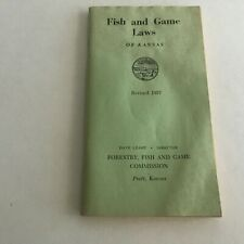 Vintage Fish and Game Laws of Kansas 1957 Collectible 88pgs