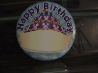 Disney Button Happy Birthday WDW Pin Mickey Mouse Cake Hidden Mickey New RETIRED