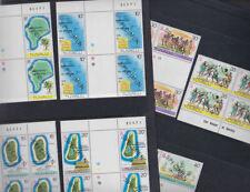 Tuvalu 1978 Mint MNH Full Set opt SPECIMEN Independence Island Atolls Blocks 4