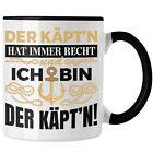 Trendation - Kapitän Tasse Geschenk Käptn Lustiger Spruch Bootsfahrer Sportboot