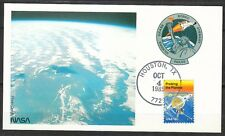 United States 1985 Oct 4 space Maxi Card Shuttle Atlantis STS-51-J mission