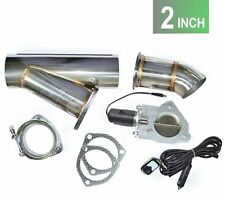 """2"""" inch Exhaust Bypass Valve electric stainless remote cut out y-pipe  dump cat"""