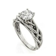 Art Deco 1Ct Diamond Sterling Celtic Solitaire Engagement Ring XMAS GIFTS