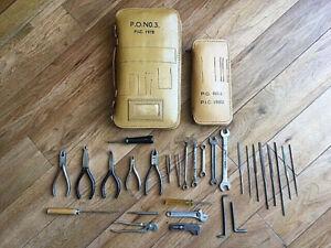 Vintage PO (GPO / BT) Leather Tool Bag No 3 1978 & Tool Bag No. 4 1980 + Tools