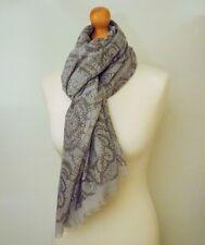 Pretty Soft Grey Lace Print Ladies Scarf, Wrap, Birthday, Christmas Gift Idea