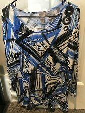 Chicos Easy Wear 3/4 Sleeve top - Scoop Neck - sz 2 - EUC - Free Shipping!
