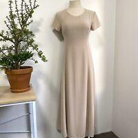 Vintage Country Road Sz 8 Sheath Dress Blush Pink White Textured Maxi Dress