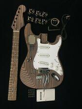 DKE500-ST Electric Guitar DIY,Technical Zebra Wood Body & Neck,No-Soldering