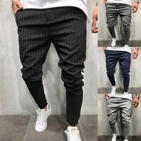 Men's Twill Jogger Pants Urban Hip Hop Harem Casual Trousers Slim Fit