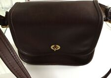 Vintage coach hangbag brown leather